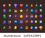 set of icons for creating 2d... | Shutterstock .eps vector #1695415891