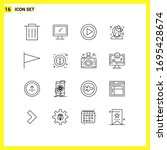 pack of 16 modern outlines...