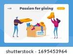 characters volunteers of... | Shutterstock .eps vector #1695453964