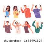 young people teen characters... | Shutterstock .eps vector #1695491824