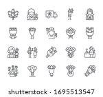 set of bouquet related vector... | Shutterstock .eps vector #1695513547