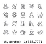 set of kindergarten related... | Shutterstock .eps vector #1695517771
