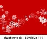 snow flakes falling macro... | Shutterstock .eps vector #1695526444