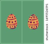 spot five difference easter... | Shutterstock .eps vector #1695526591