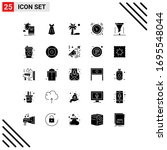 modern set of 25 solid glyphs...