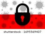 poland lockdown stopping 2019... | Shutterstock .eps vector #1695569407