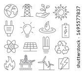 energy line icons set on white... | Shutterstock .eps vector #1695577837
