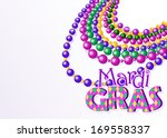 mardi gras beads background... | Shutterstock .eps vector #169558337