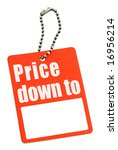 Sale tag with copy space isolated on white background - stock photo