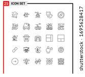 25 line concept for websites... | Shutterstock .eps vector #1695628417