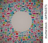 template design social network... | Shutterstock .eps vector #169563371
