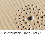Pattern Of Colored Pebbles In...