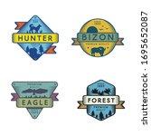 forest animals vector logo...   Shutterstock .eps vector #1695652087