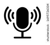 microphone vector icon. voice...