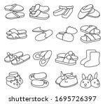 house slipper outline vector... | Shutterstock .eps vector #1695726397