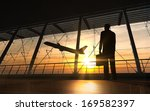 Business Man Silhouette In The...
