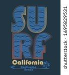 surfing t shirt graphic design. ...   Shutterstock .eps vector #1695829531