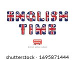 english time. language online... | Shutterstock .eps vector #1695871444