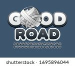 vector stylish logo good road...   Shutterstock .eps vector #1695896044