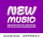 vector bright label new music.... | Shutterstock .eps vector #1695906511