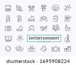 vector set of entertainment... | Shutterstock .eps vector #1695908224