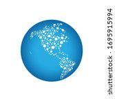 globe world connections map...   Shutterstock .eps vector #1695915994