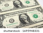 Dollars On A White Background....
