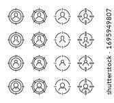 modern thin line icons set of... | Shutterstock .eps vector #1695949807