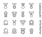 modern thin line icons set of... | Shutterstock .eps vector #1695949891