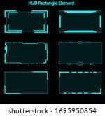 set of hud rectangle elements...