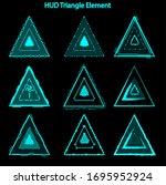 set of hud triangle elements...
