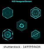 set of hud hexagon elements...