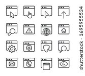 icon set of browser. editable...