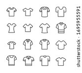 set of t shirt related vector... | Shutterstock .eps vector #1695955591