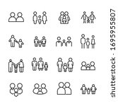 vector line icons collection of ... | Shutterstock .eps vector #1695955807