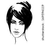watercolor portrait of...   Shutterstock .eps vector #169596119