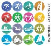 sport icon set   vector... | Shutterstock .eps vector #1695975334