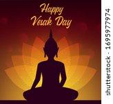 Vesak Day Buddha With Lotus...