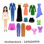 dress up girl | Shutterstock .eps vector #169604999