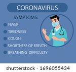 corona virus symptoms...   Shutterstock .eps vector #1696055434
