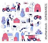 smart farming agriculture... | Shutterstock .eps vector #1696064821