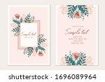botanical card template....   Shutterstock .eps vector #1696089964