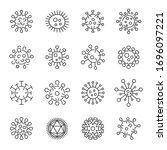 virus icons. collection of... | Shutterstock .eps vector #1696097221