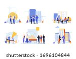 builders and architects set... | Shutterstock .eps vector #1696104844