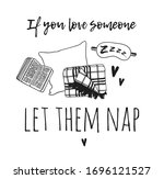 hand drawn objects about sleep...   Shutterstock .eps vector #1696121527