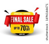 final sale banner with red... | Shutterstock .eps vector #1696166671
