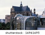 st. eustache cathedral and...