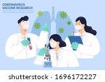 covid 19 vaccine research... | Shutterstock .eps vector #1696172227