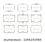hand drawn set of decorative...   Shutterstock .eps vector #1696192984
