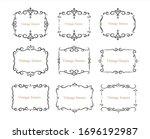 hand drawn set of decorative... | Shutterstock .eps vector #1696192987